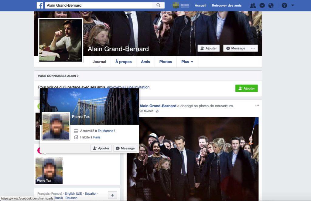 Compte Facebook d'Alain Grand-Bernard