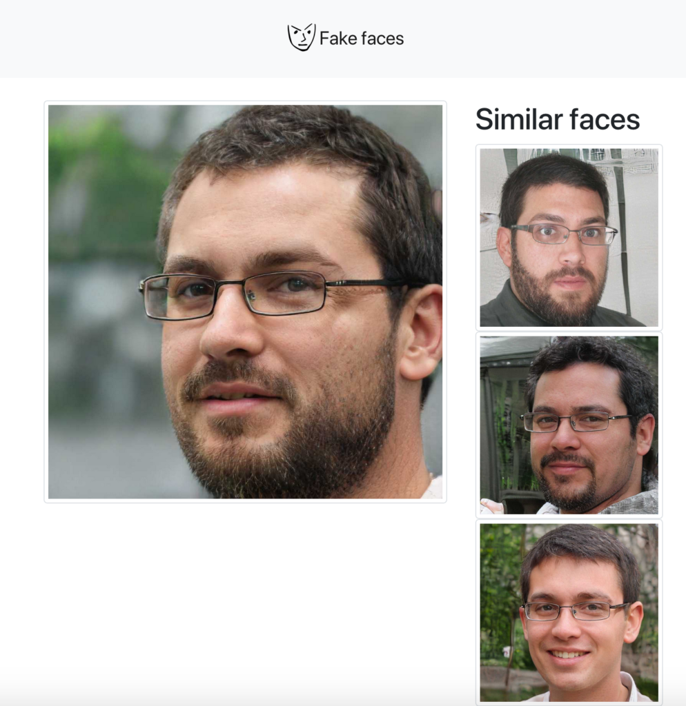 Capture d'écran d'un site proposant des photos deep fake où on retrouve la photo de profil du faux compte Alain Grand Bernard d'En Marche.